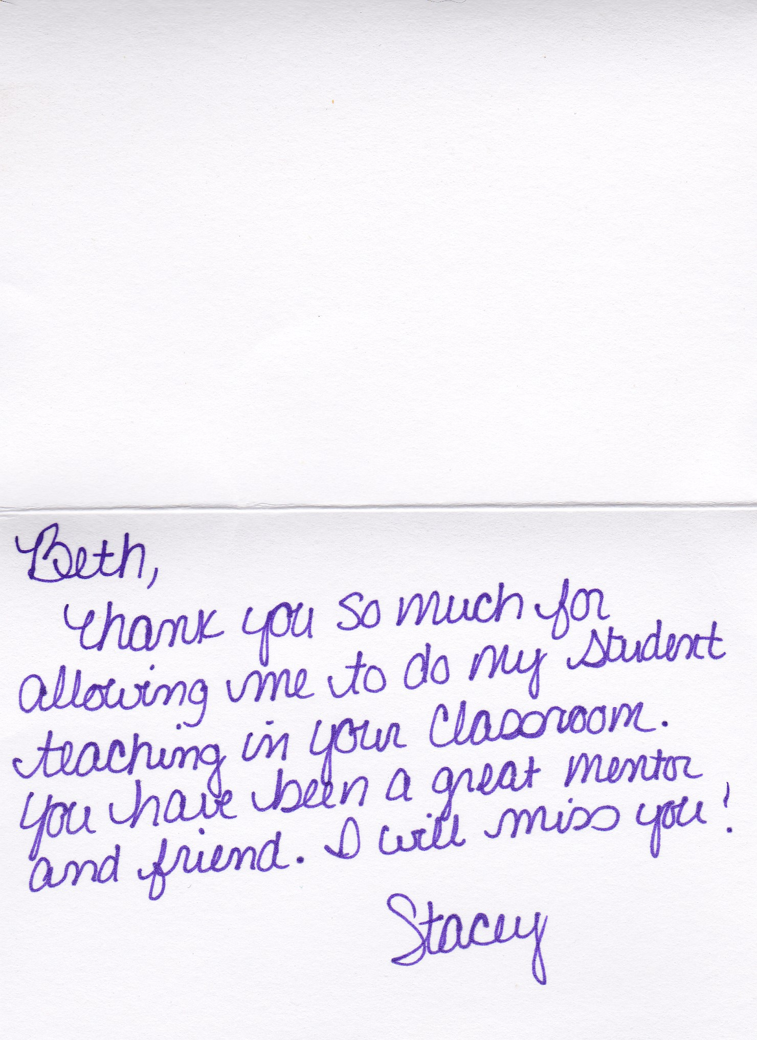 Appreciation Letter To Teacher Teacher Appreciation Thank You Letter